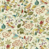 Birds and Berries Fabric - Rowan Berry