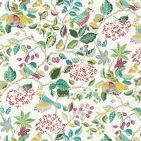Birds and Berries Fabric - Fern