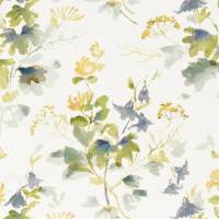 Honey Flowers Fabric - Anise / Slate