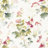 Honey Flowers Fabric - Fuchsia / Rose