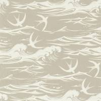 Swallows at Sea Fabric - Linen