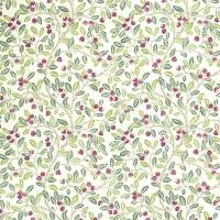 Wild Berries Fabric - Fern / Mulberry