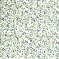 Wild Berries Fabric - Blueberry / Sage
