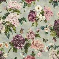 Summer Peony Fabric - Vineyard / Rose