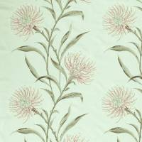 Catherinae Embroidery Fabric - Silver Mint