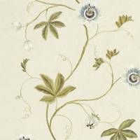 Passion Vine Fabric - Sage