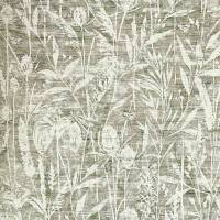 Violet Grasses Fabric - Moss