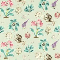 Capuchins Fabric - Sea Green