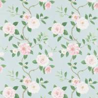 Christabel Fabric - Pink/Sky