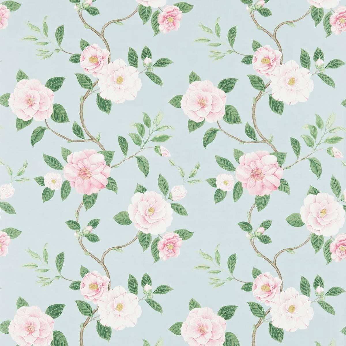 christabel fabric pink sky 223290 sanderson voyage. Black Bedroom Furniture Sets. Home Design Ideas