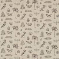 Cocos Fabric - Linen/Charcoal