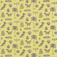 Cocos Fabric - Yellow/Charcoal