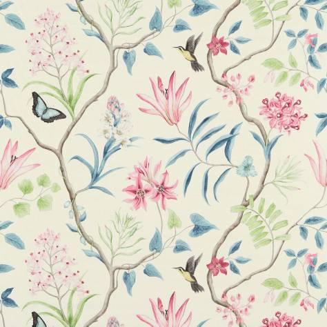 Sanderson Voyage of Discovery Fabrics Clementine Fabric - Dusky Pink - 223296