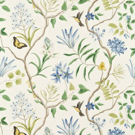 Sanderson Voyage of Discovery Fabrics Clementine Fabric - Delft Blue - 223299