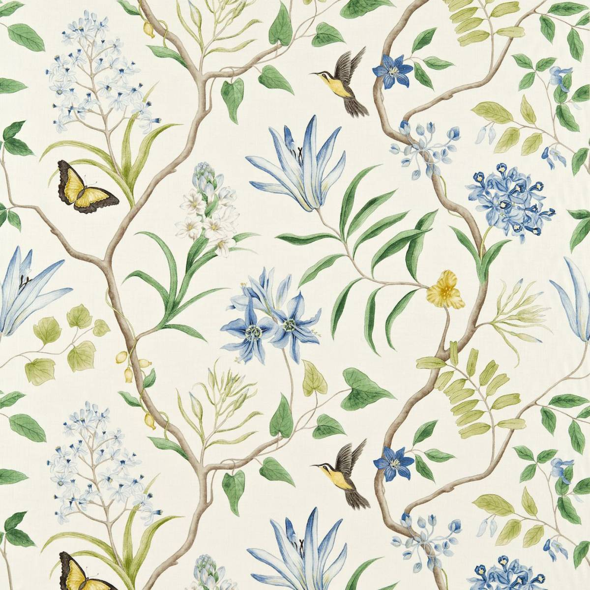 clementine fabric delft blue 223299 sanderson voyage. Black Bedroom Furniture Sets. Home Design Ideas