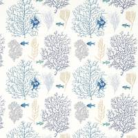 Coral & Fish Fabric - Marine/Blue