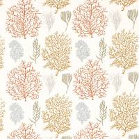 Coral Reef Fabric - Amber/Russet
