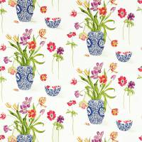 Painters Garden Fabric - Violet/Crimson