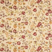 Pear and Pomegranate Fabric - Mandarin/Damson
