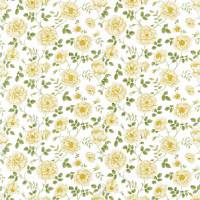 Rosalie Fabric - Parchment/Yellow