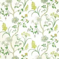 Summer Tree Fabric - Silver/Linden