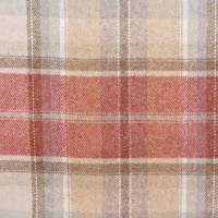 Byron Fabrics - Cherry/Biscuit