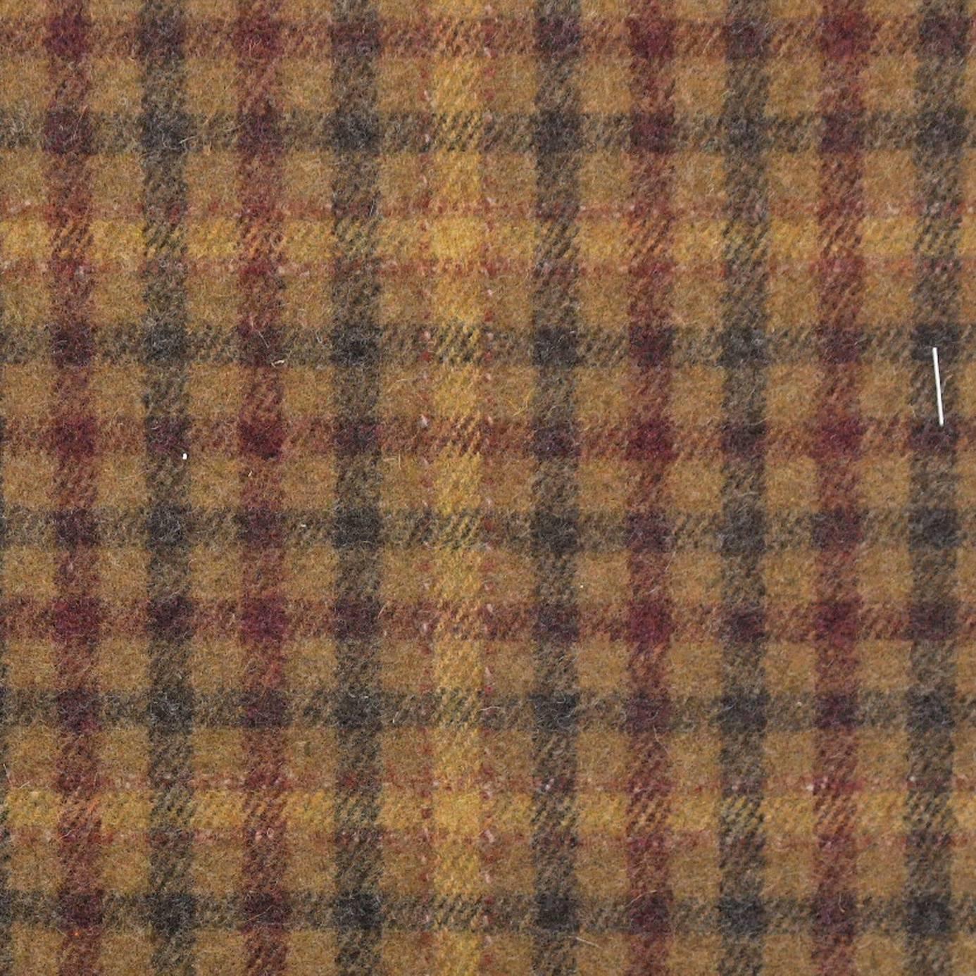 Curtains In Langtry Fabrics Caramel Burgundy 233264