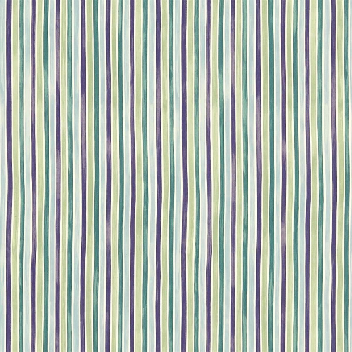 Roman Blinds In Polka Stripe Fabric Purple Green 223449