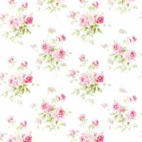 Adele Fabric - Raspberry/Ivory