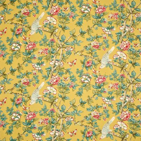 Caverley Fabric Chinese Yellow Dcavca202 Sanderson