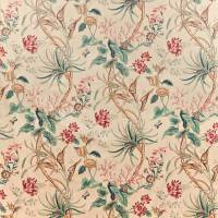 Mauritius Fabric - Red Antique