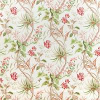 Mauritius Fabric - Coral/Ivory
