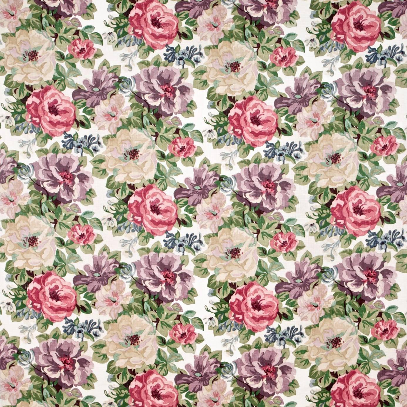 midsummer rose fabric lilac rose dcavmi201 sanderson. Black Bedroom Furniture Sets. Home Design Ideas