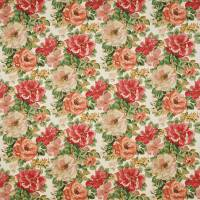 Midsummer Rose Fabric - Red/Green