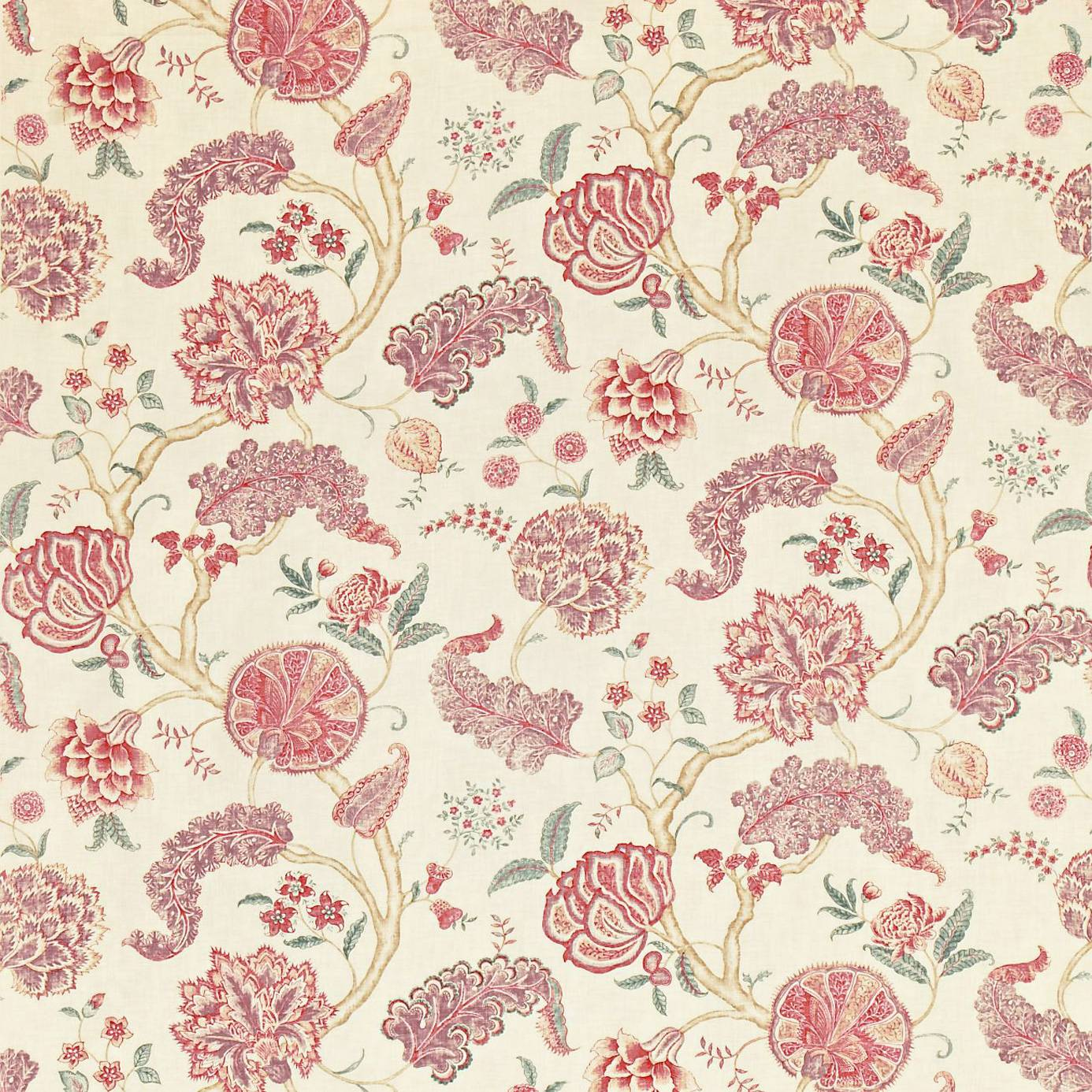 palampore fabric mauve rose dcavpa202 sanderson. Black Bedroom Furniture Sets. Home Design Ideas