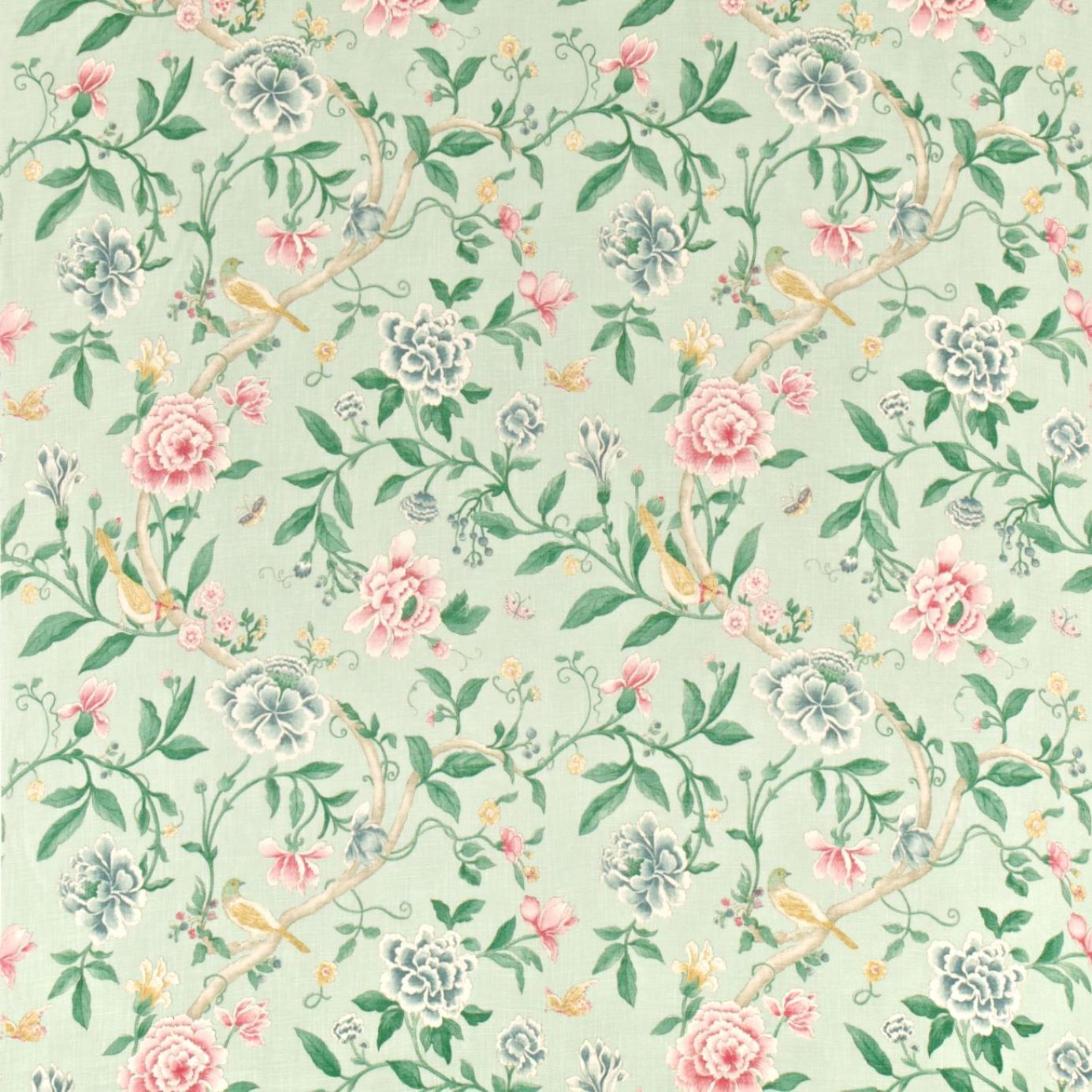 Porcelain Garden Fabric Rose Duckegg Dcavpo203