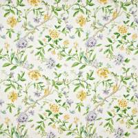 Porcelain Garden Fabric - Lemon/Leaf Green