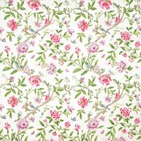Porcelain Garden Fabric - Magenta/Leaf Green