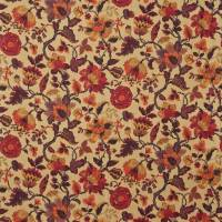 Amanpuri Fabric - Old Gold/Aubergine