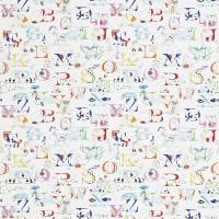 Alphabet Zoo Fabric - Rainbow Brights