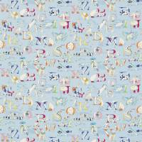 Alphabet Zoo Fabric - Powder Blue