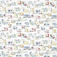 Alphabet Zoo Embroidery Fabric - Rainbow Brights