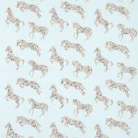 Pretty Ponies Fabric - Chintz/Blue