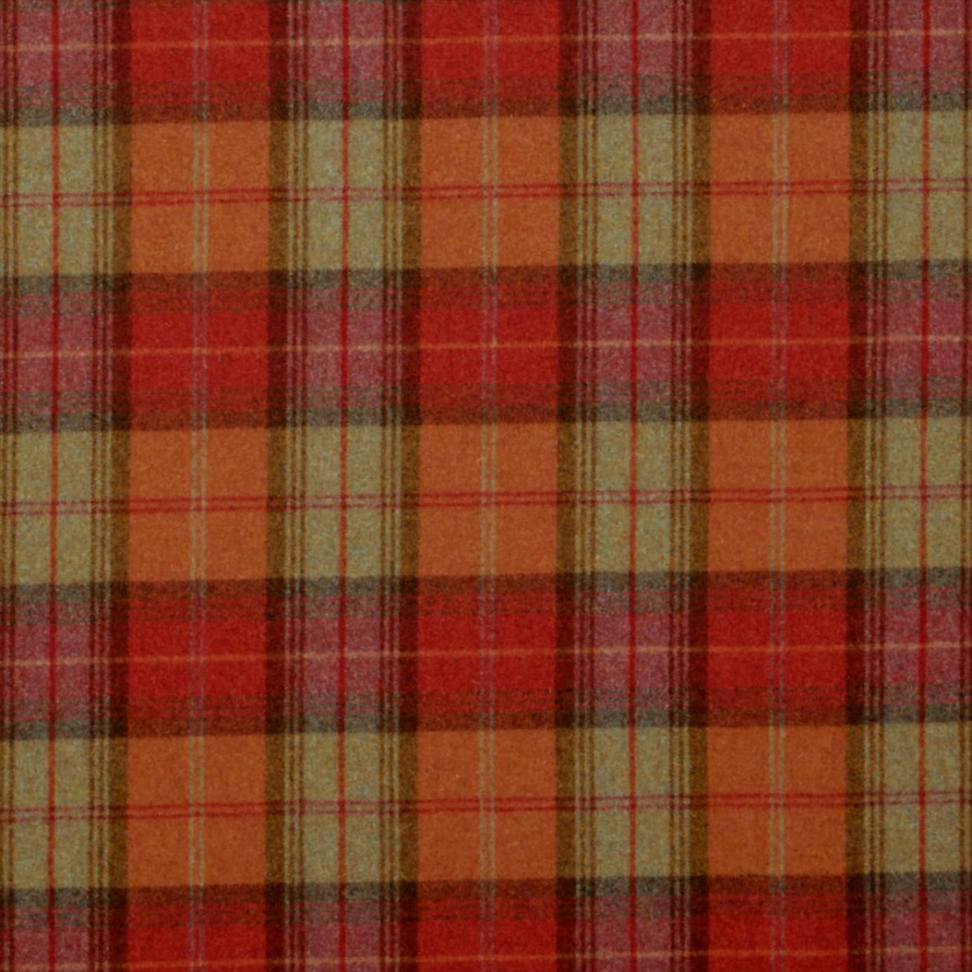 Curtains in Woodford Plaid Fabric - Brick/Wine (DHIGWP301) - Sanderson ...