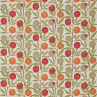 Blomma Fabric - Tangerine/Chilli/Citrus