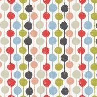 Taimi Fabric - Kiwi/Poppy/Charcoal