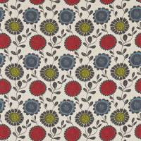 Anneke Fabric - Poppy/Kiwi/Charcoal