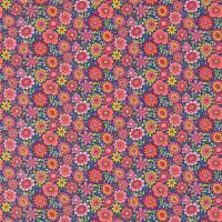 Bloomin Lovely Fabric - Sherbet/Rhubarb/Denim
