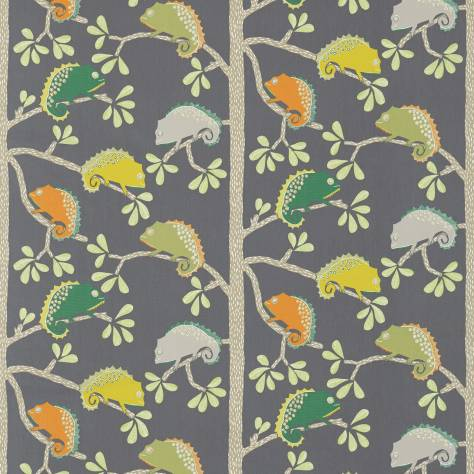 Scion Guess Who? Fabrics Calmer Chameleon Fabric - Moss/Citrus/Charcoal - 120459