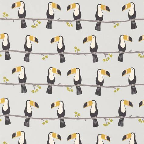 Scion Guess Who? Fabrics Terry Toucan Fabric - Charcoal/Putty - 120465
